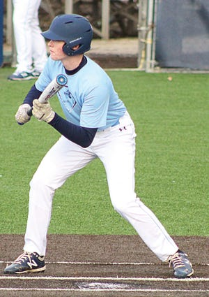 Bartlesville High's William Parsley prepares to make contact during varsity baseball action this week.