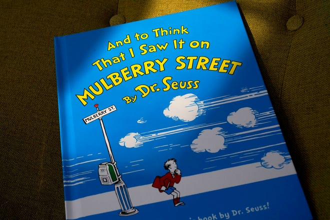 "A copy of the book ""And to Think That I Saw It on Mulberry Street,"" by Dr. Seuss. Steven Senne/AP"