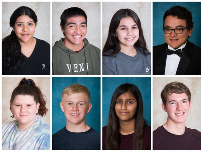 Brownwood High School announced its February Students of the Month. Top, from left: Michelle Fletes, Riley Soto, Rebecca Menchaca, Marcos Lombrano. Bottom, from left: Lyndsey Shields, Tyler Mitchell, Aishwarya Nigalye, Andrew Boren.