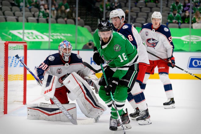 In recent wins against Detroit and at Dallas on Thursday, the Blue Jackets and goaltender Joonas Korpisalo (70) have returned to playing the kind of sticky defensive hockey that has defined them in recent seasons.