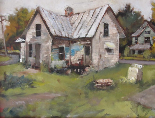 """""""Dryer in the Sideyard - Kilbourne Ohio, Autumn Morning"""" by Justin Collamore"""