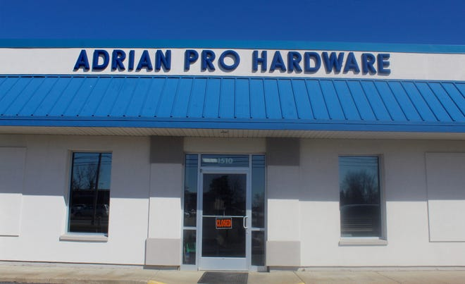 Adrian Pro Hardware, 1510 W. Maumee St., Adrian, closed Friday afternoon after 70 years of business. The space will be used by Whitcher Plumbing & Heating for a showroom and reception area.