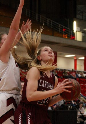 Langdon/Edmore/Munich lost to Carrington, 45-39, on March 4 in NDHSAA Class B girls state quarterfinals at the Minot State Dome.