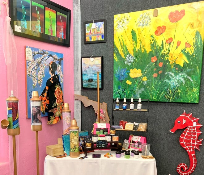 The Pink Turtle Gift Shoppe partners with local artists.