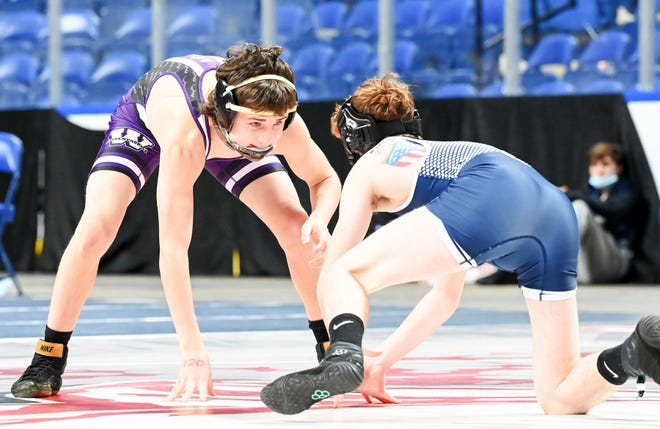 Wallenpaupack Area's Gunnar Myers (left) placed second at the PIAA District 2 AAA tournament and then qualified for the PIAA Super Regional this weekend by taking fourth at the Northeast Regional.