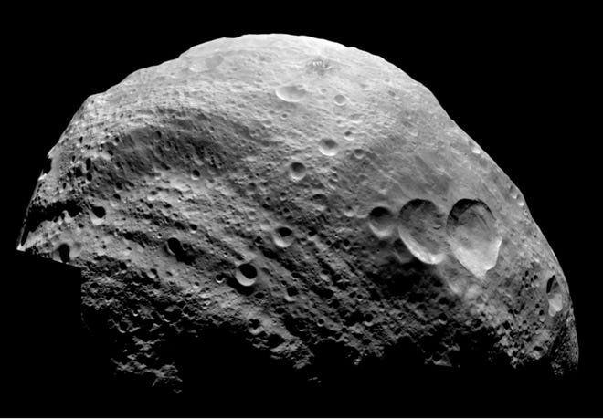 This a view of Vesta, pictured by NASA's Dawn spacecraft, Aug. 17, 2018. Creative Commons Attribution 2.0 Generic license.