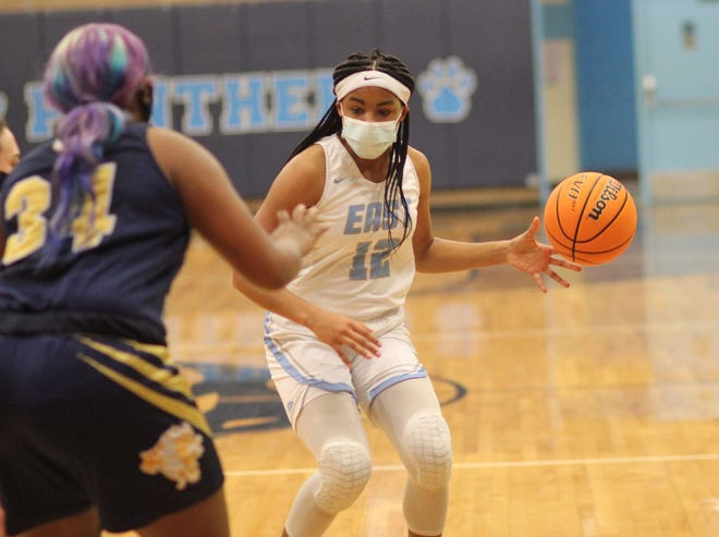 East Duplin sophomore Amiaya Hall was named the girls' basketball player of the year in the East Central 2-A Conference. [Chris Miller / The Daily News]