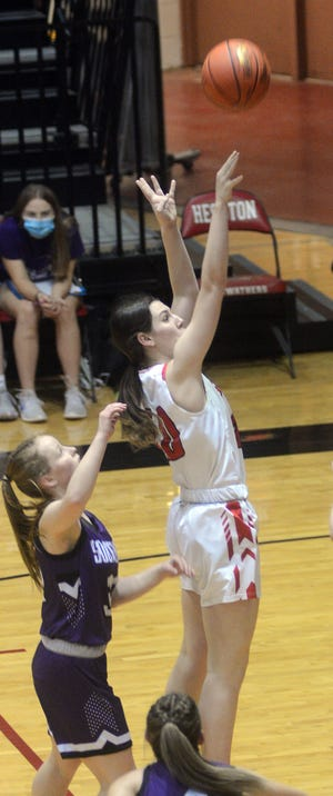 Hesston junior Katherine Kueker scored 15 points Thursday in a 49-39 win over Southeast of Saline in the Class 3A sub-state semifinals.