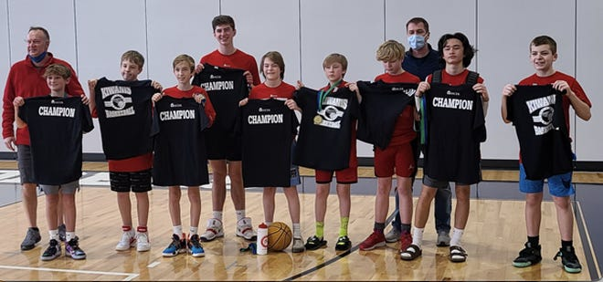 Team Ray, HCER's rec basketball boys champions. Ryan Jones, Myles Pratt, Will Ray, Max Luker, Finn Grady, Aiden Thacker, Jacob Shale, Joe DiMalanta, Hudson Rubin  Coaches: Will Ray, Ryan Jones