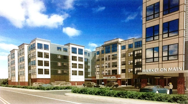 The Aeronaut at 1400 Main St. in Weymouth is one of the projects under construction in the overlay district.