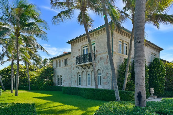 With its exterior of quarried Keystone blocks, a 1920s-era landmarked house at 930 S. Ocean Blvd. in Palm Beach has been sold for a recorded $17.88 million by a company linked to Richard R. Wackenhut of the security-services fortune.