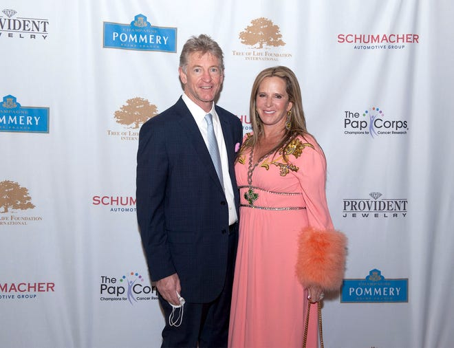 Dale Kahle and Hilary Musser at the Pap Corps Imagination Gala at the Breakers on March 4. PHOTOS BY CAPEHART