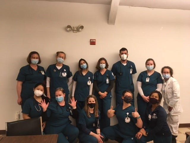 Thirteen GBCC nursing students participated in the Rochester Housing Authority event taking vaccines to residents; apartments, providing pre-screening assessment, drawing up medication and administering the Moderna COVID-19 vaccine.