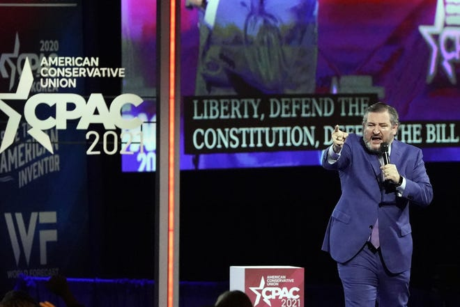 Republican Sen. Ted Cruz, of Texas, speaks at the Conservative Political Action Conference on Feb. 26 in Orlando.