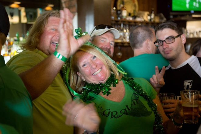 Flashback to St. Patrick's Day, 2018: Revelers at Paddy Mac's in Palm Beach Gardens, a favorite spot for celebrating March 17.