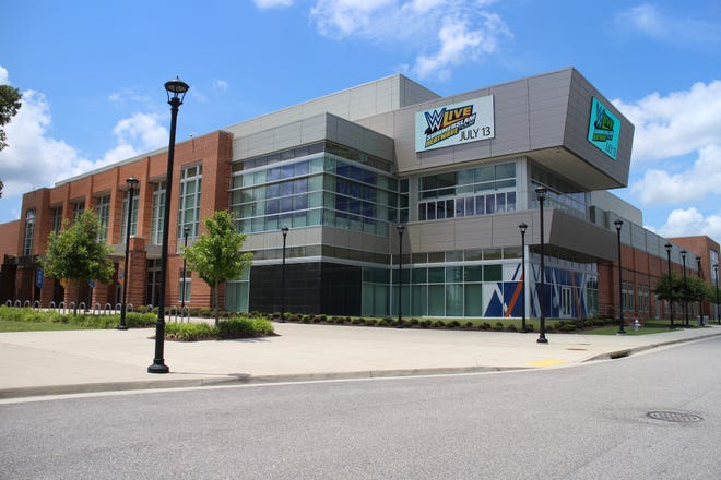 The Virginia State University Multi-Purpose Center, shown in this undated photo, will host its first vaccination clinic March 6 in a venture with Crater Health District and the Virginia Department of Health.