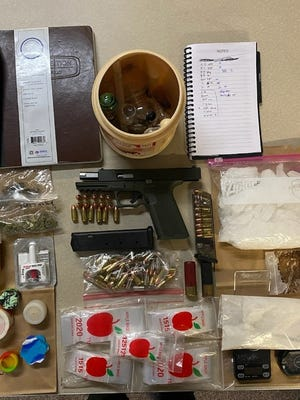 The Kern County Sheriff's Office supplied this evidence photo from their Feb. 28, 2021 narcotics arrest in Weldon, California.