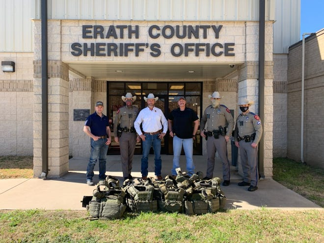 In addition to the Stephenville Police Department donation, Texas Department of Public Safety officers donated 15 rifle vest to the Erath County Sheriff's Office.