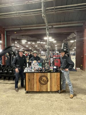 Tristan Hanna, Cade Castleberry and Mace Parham won the Tractor Implement Class at the San Antonio Ag Mechanics show with this post pounder they built. The team worked through challenges and set backs but in the end, accomplished their mission. They set a goal for the project to win a class, but surpassed that goal and won the class at every show at which they exhibited. The team won a welder, cutting set up, welding equipment and other miscellaneous supplies totaling more than $1,000.