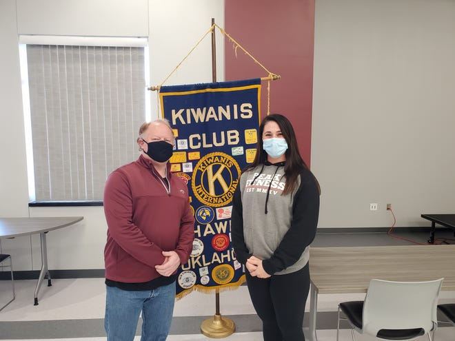 Jamie Roberts was the featured speaker at a recent Kiwanis Club meeting.