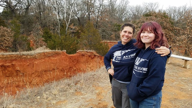Becca Black, left, and daughter Kenna run The Ravine on land the family purchased last year.