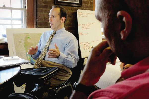 New Bedford CFO Ari Sky, seen here in a 2014 file photo, has been offered the position of Town Administrator for the Town of Lakeville.