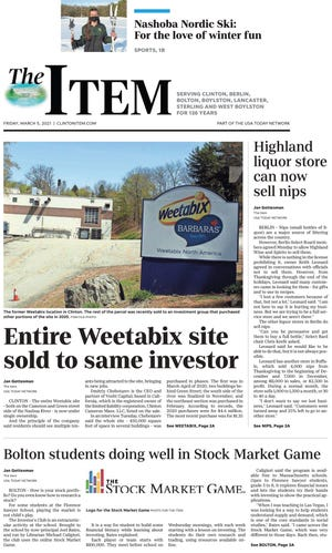 The front page of the March 5, 2021 Item