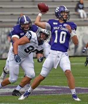 Connor Degenhardt returns as Holy Cross' incumbent starter at quarterback.