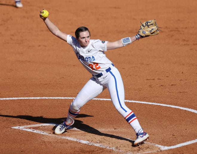 Florida starting pitcher Elizabeth Hightower tossed a one-hitter Friday in the Gators' 5-0 win over Florida State at Katie Seashole Pressly Stadium.