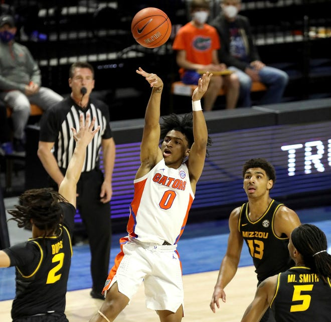 Florida guard Ques Glover puts up a shot Wednesday against Missouri in Gainesville.