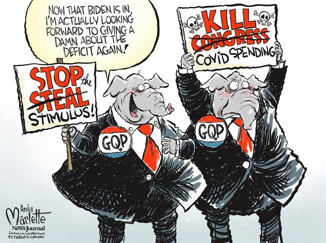 Now, with Biden in office, the GOP can concern itself with spending.
