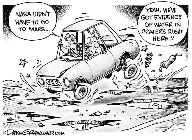 Mars and potholes