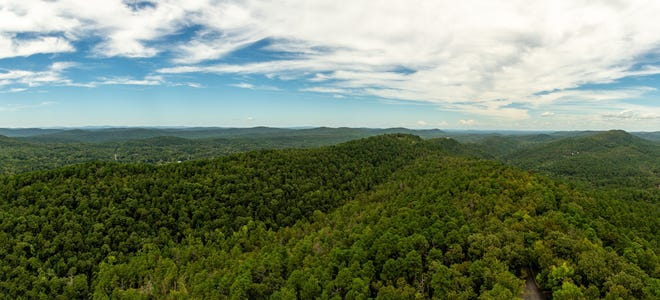 One of the aerial views as seen from the top of the Mountain Tower.