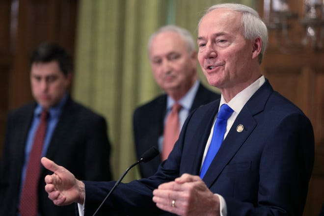 A bill banning transgender girls and women from competing on school sports teams consistent with their gender identity is being sent to Arkansas Gov. Asa Hutchinson.