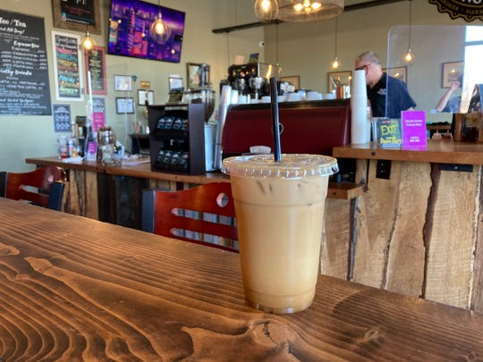 An iced latte at Death of the Fox Brewing Company.