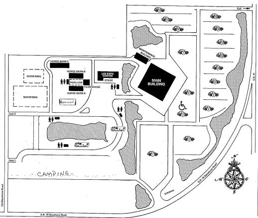 A map of the Lee Civic Center grounds submitted by Kitson & Partners, which wants to built a resort hotel and commercial businesses on the site.