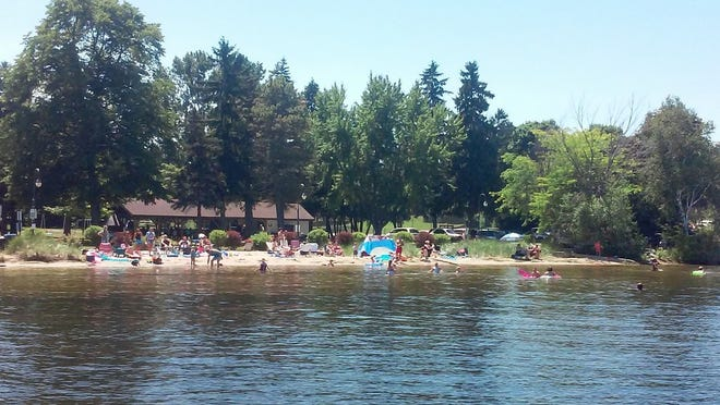 The beach at Otumba Park in Sturgeon Bay would be extended from 30 to 60 feet back form the waterfront under a plan approved March 2 by the City Council. The expansion is one of a number of enhancements that also include access for people with disabilities and a kayak and canoe launch.