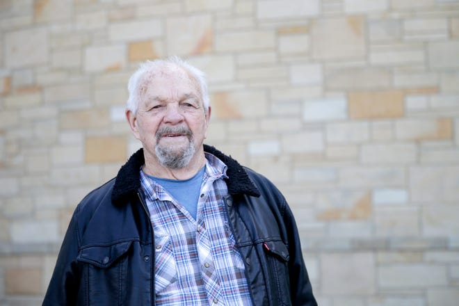 Harry Evans, 83, stands for a photo outside IU Health Arnett, Friday, March 5, 2021 in Lafayette. Evans was the first patient to receive a transcatherter aortic valve replacement at IU.