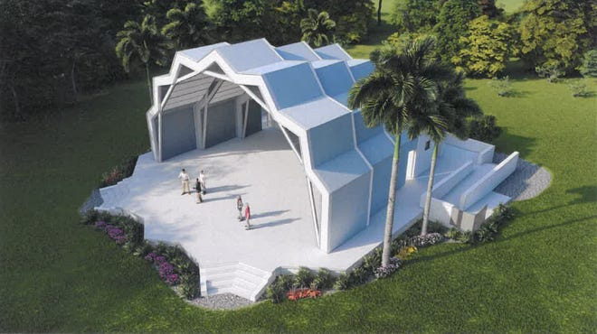 Rendering of the bandshell to be constructed at Veterans' Community Park on Marco Island