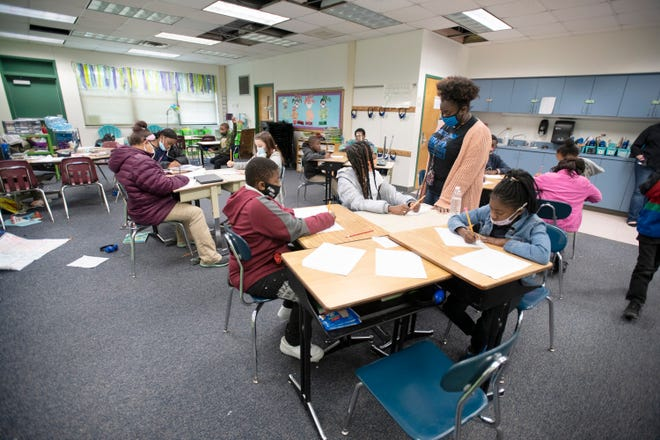 C.A. Weis Elementary Community Partnership School in Pensacola on Friday, March 5, 2021.