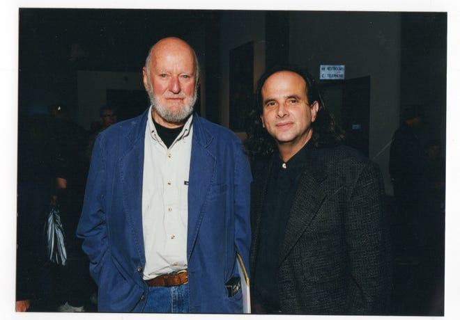 Poet and City of Lights Bookstore co-founder Lawrence Ferlinghetti and Tallahassee poet Michael Rothenberg in an undated photo. Ferlinghetti died at 101 on Feb. 22. Rothenberg was very involved with Beat poets.