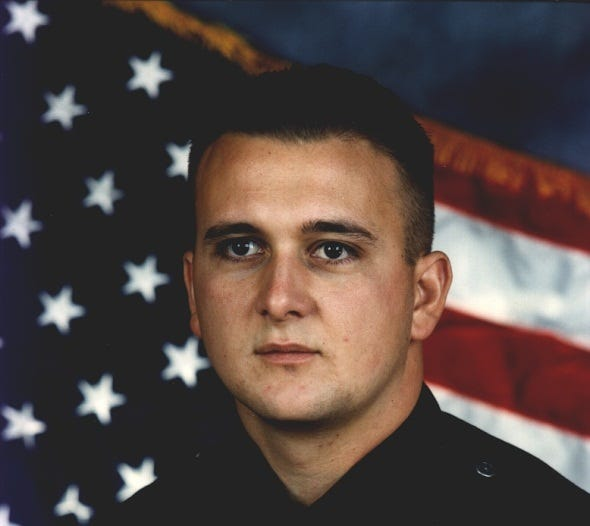 Simi Valley police officer Michael Clark was killed in the line of duty on Aug. 4, 1995. He is the only police officer in the department's history to be killed on duty.