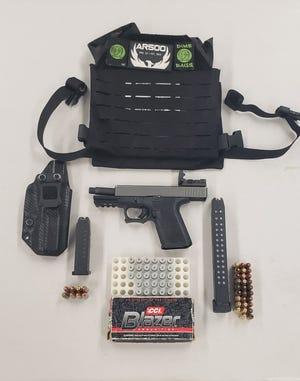 Visalia police found an illegal firearm and ammunition on Thursday, March 5, 2021.