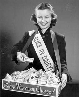 Margaret McGuire of Iowa County served as Wisconsin's first Alice in Dairyland in 1948.