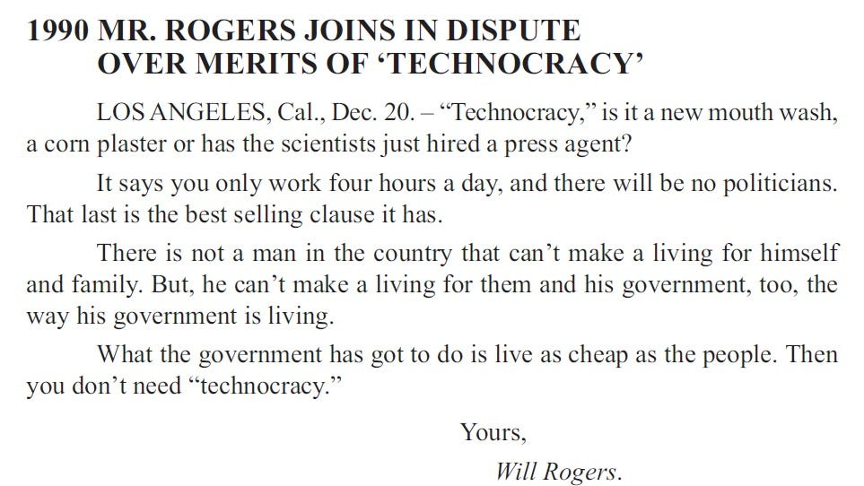 Will Rogers sent short columns to more than 500 newspapers daily.