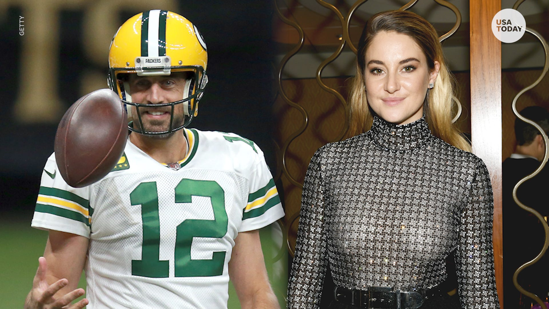 Green Bay Packers quarterback Aaron Rodgers and actress Shailene Woodley have found love