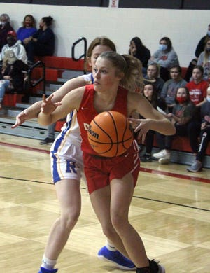 Davis' Logan Pruitt finished with 12 points in a 37-29 setback to Marlow in the first round of the Class 3A Area Tournament.