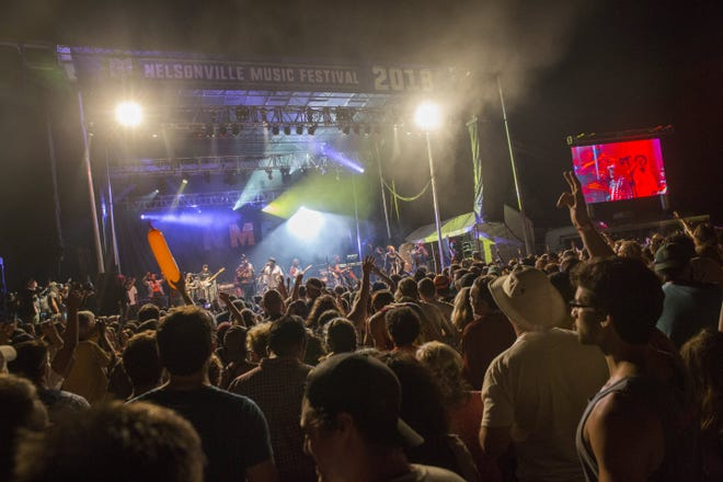 George Clinton and Parliament Funkadelic perform during the Nelsonville Music Festival in 2018. The COVID-19 pandemic caused the festival to go virtual last year and led to the cancellation of this year's concerts.