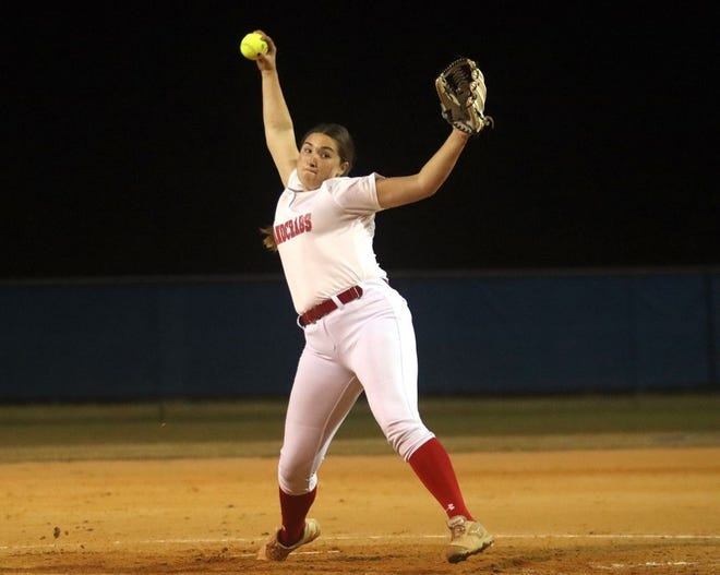 Seabreeze freshman Julie Kelley had three triples, five RBI and struck out seven Father Lopez batters in a 16-2 victory.