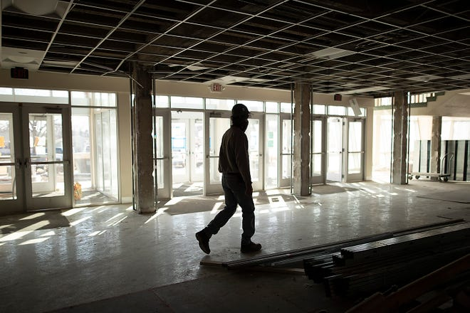 Major renovations continue at Galesburg High School, as seen on Mar. 5, 2021.